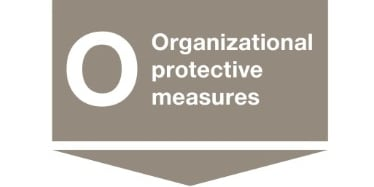 "Organizational protective measures as a third step in the workflow of the ""Stop principle"""