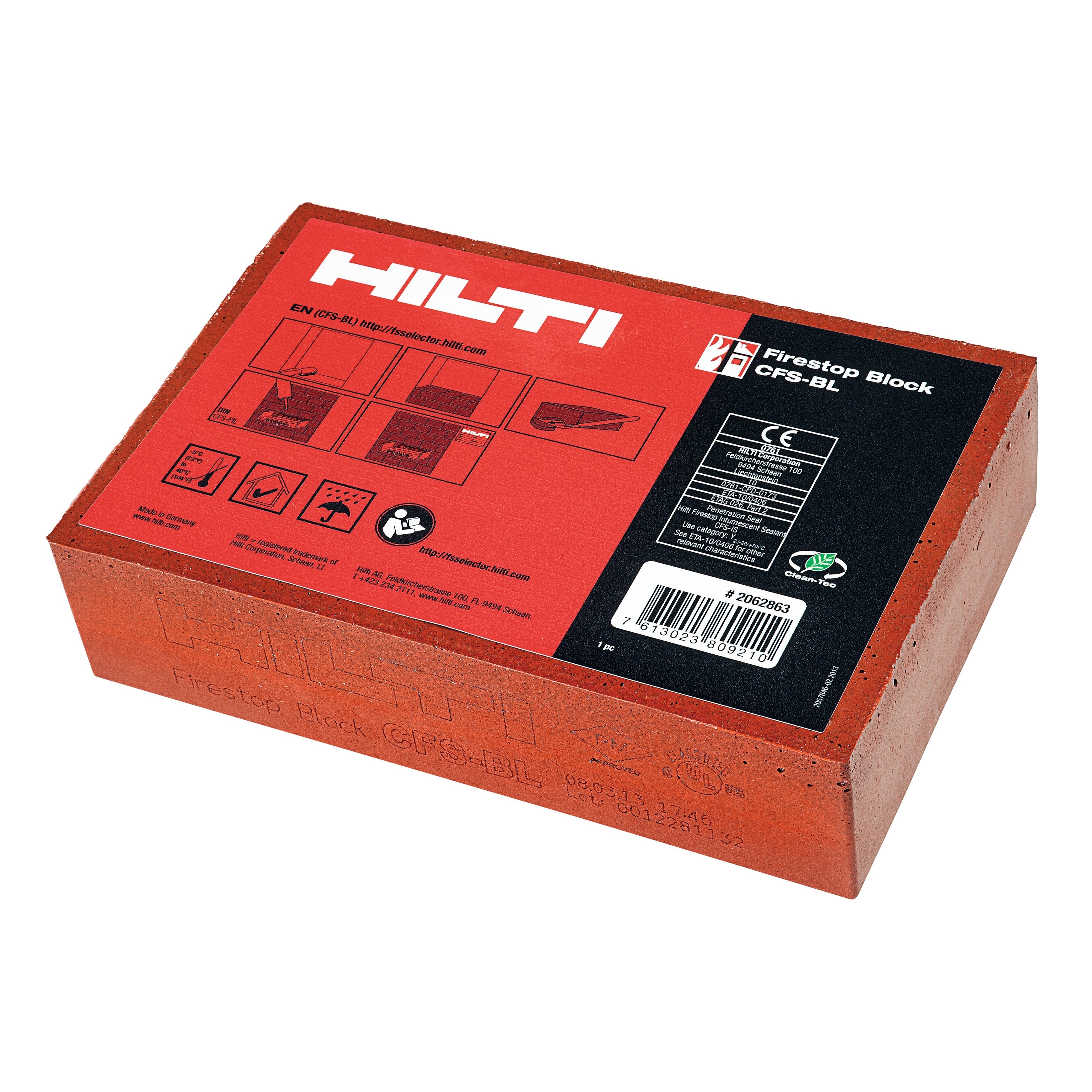 Hilti firestop for environmentally friendly buildings, reformulated to remove hazardous substances