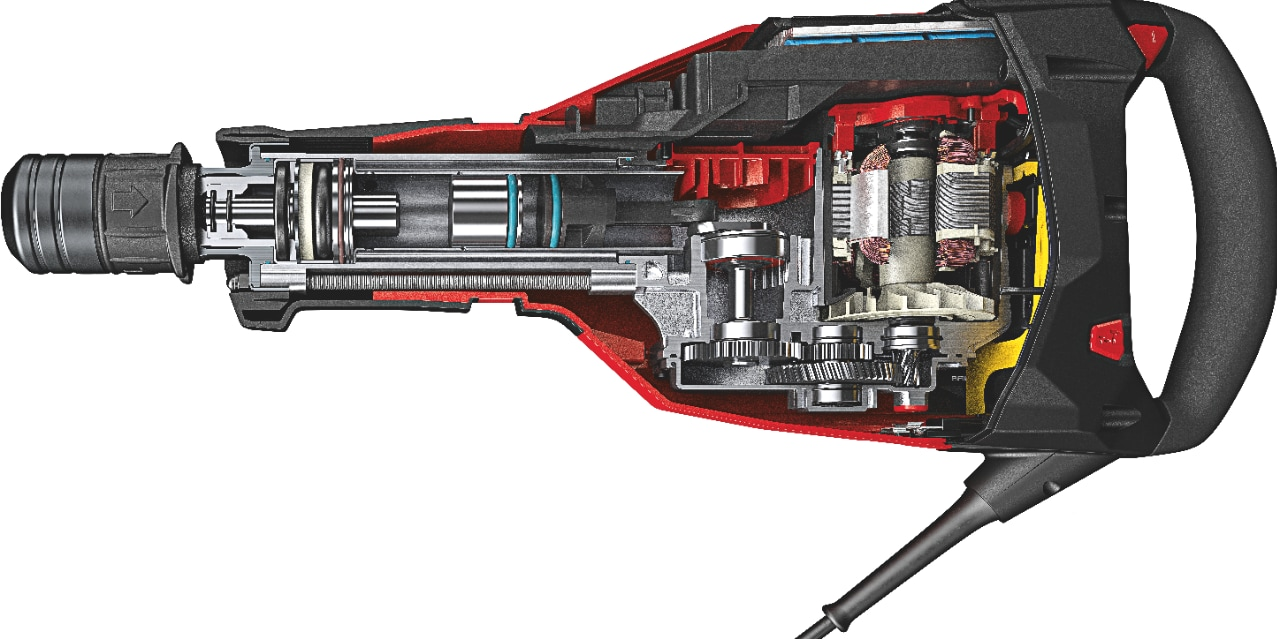 Cutaway to show the sub-chassis system inside the TE 1000-AVR