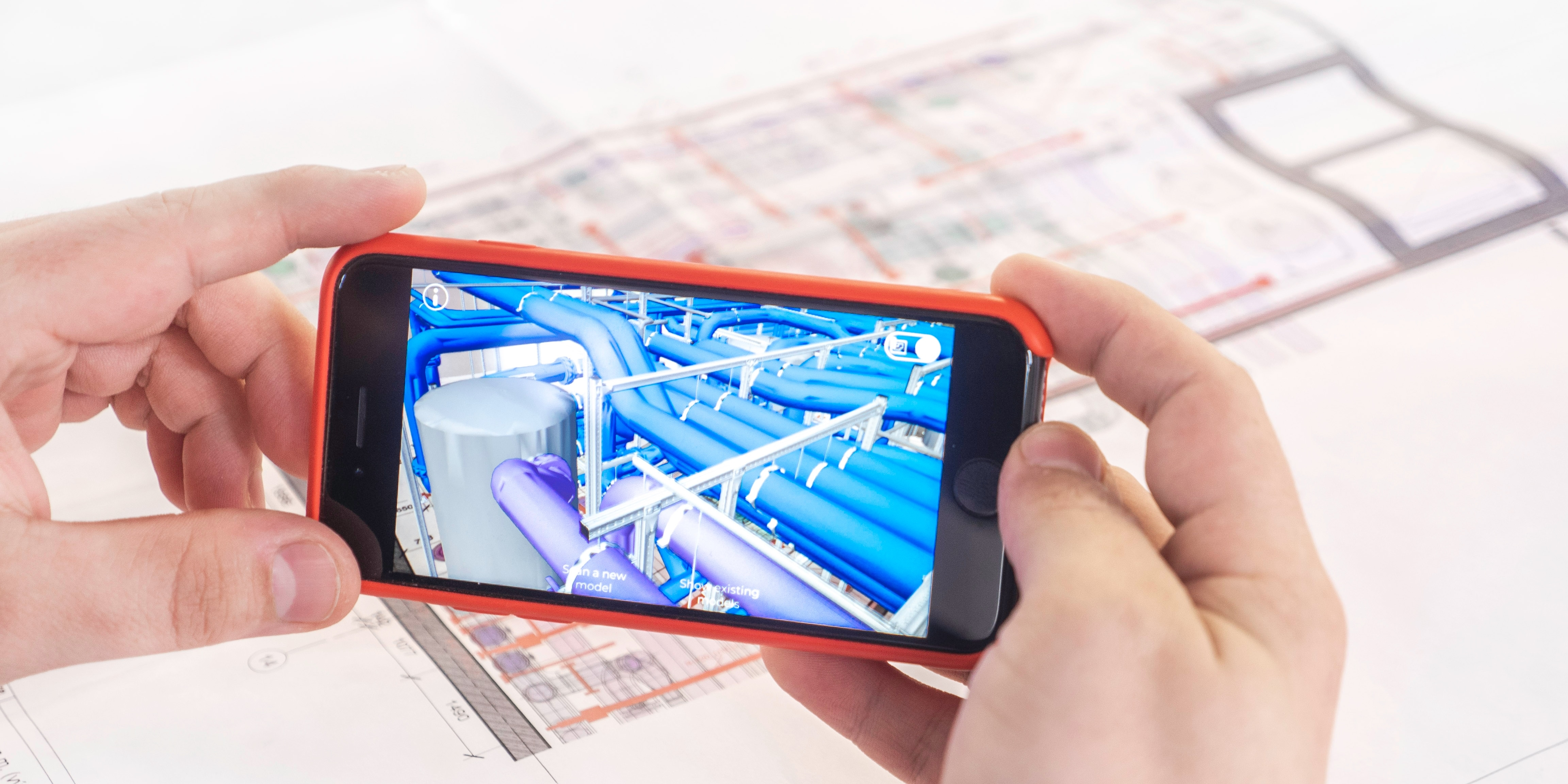 BIM used on a mobile device for paperless as-built documentation of a building